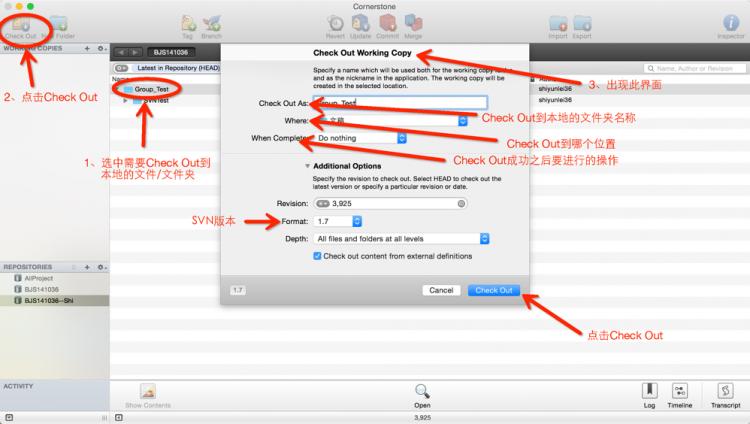 然后Import完成之后,就把本地的文件提交到SVN服务器上了